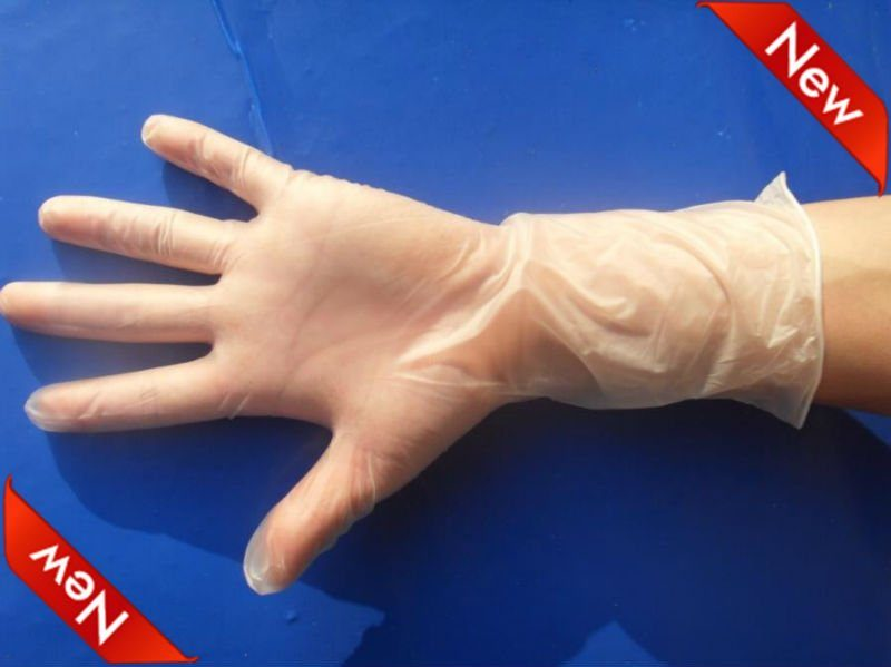 long cuff vinyl gloves